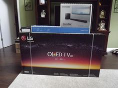 """LG OLED55C7P 55"""" 2160p OLED Television also with Samsung sound bar"""