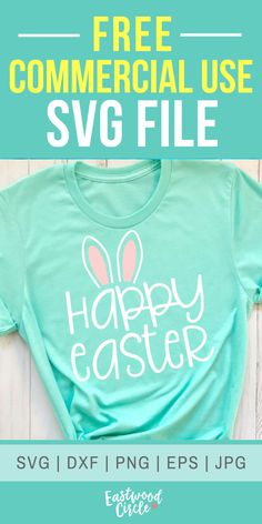 This SVG file works great with the Cricut and Silhouette Cameo for crafters to make DIY projects such as shirts, signs, mugs, and more! Works great with heat transfer vinyl. Source by T-Shirts Cricut Vinyl, Svg Files For Cricut, Cricut Fonts, Free Svg, Easter Projects, Easter Crafts, Easter Ideas, Easter T Shirts, Vinyl Shirts