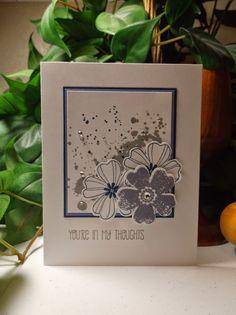 Rachel's Card Corner - Gorgeous Grunge, Flower Shop, A Dozen Thoughts - Smoky Slate, Night of Navy, Wisteria Wonder - sympathy card