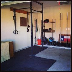 Simple but effective at home gym...from Get Rx'd #crossfit