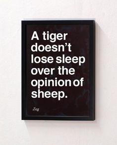 Be a tiger