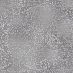 Holiday Elegance - Damask in Pewter - Half Yard Cotton Fabric #StudioE