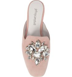 Main Image - Jeffrey Campbell Ravis Crystal Embellished Mule (Women)