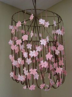 In Bloom Cherry Blossom Baby Mobile by PearlySkies on Etsy, $50.00