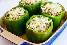 Kalyn's Kitchen: Recipe for Stuffed Green Peppers with Brown Rice, Italian Sausage, and Parmesan