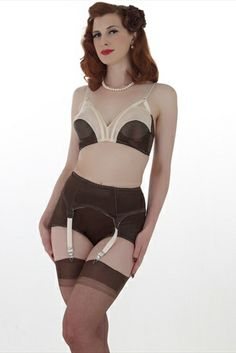 b7e4db9de2 What Katie Did Coco Chocolate and Peach Cathedral 1950 s Bra Lingerie  Collection