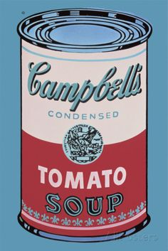 Colored Campbell's Soup Can, 1965 (pink & red) Posters by Andy Warhol at AllPosters.com