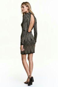 shiny party dress hm.com