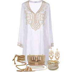 White and Gold by terry-tlc on Polyvore featuring polyvore fashion style JODE' Ancient Greek Sandals Christian Louboutin Wet Seal R.J. Graziano