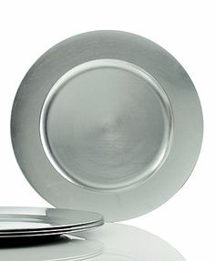Charter Club Dinnerware, Set of 4 Platinum Charger Plates They also come in Red and Gold and totally dress up your table!!