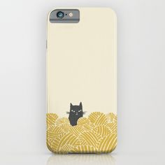 Cat and Yarn iPhone & iPod Case