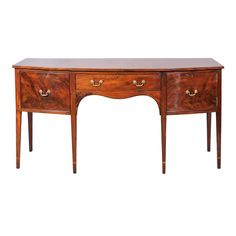 George III Mahogany Bow-Front Sideboard, Early 19th Century