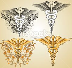 Doctors Caduceus Royalty Free Stock Vector Art Illustration
