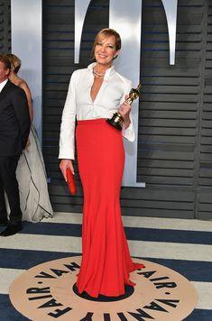 Allison Janney in Roger Vivier - Vanity Fair Oscar Party 2018 Beautiful Dresses, Nice Dresses, Roger Vivier Shoes, Allison Janney, Classic White Shirt, Vanity Fair Oscar Party, Partys, Rock, Red Carpet Fashion