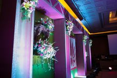 Jharoka inspired stage backdrop for a sangeeth