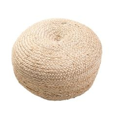Modern Tan Cylindrical Shape Jute Pouf - Free Shipping Today - Overstock.com - 15945143 - Mobile