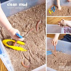Miss G's classroom is currently studying worms so I thought it would be fun to throw together a Clean Mud Worm Bin to send to school with her! This is an awesome sensory activity for kids if you're stuck inside or trying to warm the kids up to actual mud. I needed to create something …