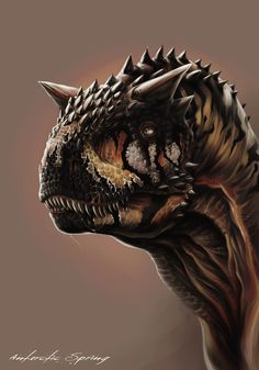 Carnotaurus III by ~AntarcticSpring on deviantART... One of my top two favorite dinosaurs :)
