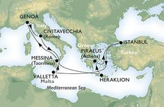 Cruise - mediterranean - Italy,Greece,Turkey,Malta