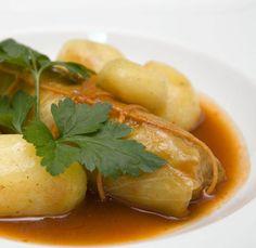 Kohlrouladen mit Kümmelkartoffeln und Hack