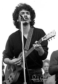 Carlos Santana at Woodstock - by Robert Altman