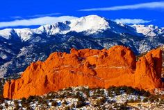 Garden of the Gods...a must see...and one of the only free things I found in Colorado Springs.