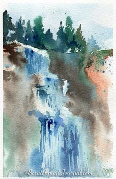 10 Minute Winter Woodland Watercolor Tutorial Paysage Aquarelle