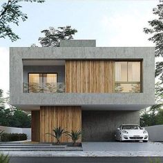 Architecture Discover 22 Ideas Exterior Building Facade Architects For 2019 Modern House Facades, Modern House Plans, House Front Design, Modern House Design, Contemporary Architecture, Architecture Design, Computer Architecture, Architecture Definition, Roman Architecture