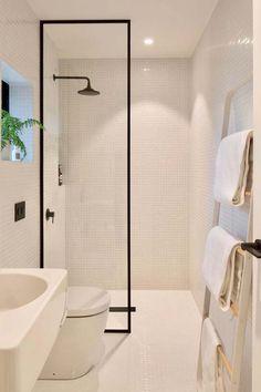 New Modern Minimalist Bathroom Ideas: How Minimalist Design Took This Small Bathroom To The Next Minimalist Bathroom Design, Bathroom Layout, Modern Bathroom Design, Bathroom Interior Design, Bathroom Storage, Modern Minimalist, Minimalist Design, Bathroom Organization, Bathroom Mirrors