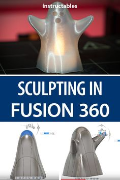 Practice sculpting with Fusion 360 by making this little printable ghost that's just the right size to fit a tealight. Diy Cnc Router, Cnc Woodworking, 3d Printing Diy, 3d Printing Service, 360 Design, 3d Printer Designs, Halloween Yard Decorations, Mechanical Design, 3d Prints
