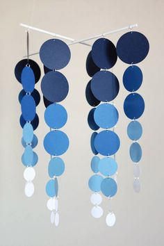 Lovely mobile! Shades of Blue Baby Mobile by LilSproutCreations on Etsy, $35.00