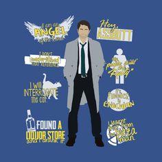 'Castiel Quotes' shirt @TeePublic!