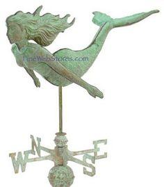mermaid weather vane!