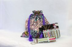 Lined Drawstring bag comes with small zipper pouch by ClemmieVs, $20.00