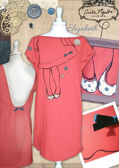 {Elizabeth Mini dress} A body on a body! Wear it when you go dancing or out for a walk, it's perfect for both relaxing and having fun! Shyness is twisted by bold and strong colours. This is designed, handmade and hand-embroidered and its form suits any type of body like the other dresses of this collection.    I created the sample with my mother's help, who works as pattern maker, and we tried to create a dress which could be comfortable and pretty at the same time.  I wash, draw an paint…