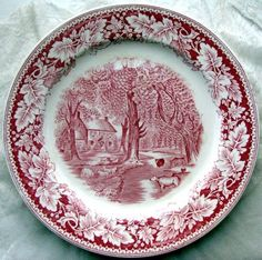 If I was the kind of person to have a set of dishes, only brought out at the holidays, it would be currier and ives-- like my grandparents had.