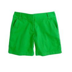Bright green shorts! more j.crew