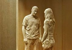 These wooden sculptures are so realistic, you'd think they're living, breathing people - Lost At E Minor: For creative people