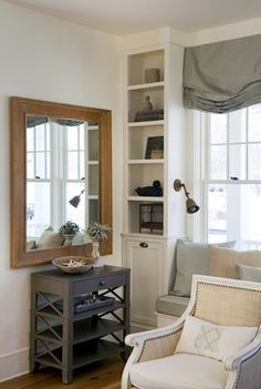 Paint is Mythic non-toxic paint throughout, but matched to one of my favorite creamy white colors from Benjamin Moore - Mayonnaise, OC-85. I did use flat on the walls - I always prefer a dead flat chalky finish for walls - and a semi-gloss on the trim. Some paint companies have semi-gloss finishes that are too shiny, and so I drop down to satin, but in Mythic, the sheen level is just right for trim.