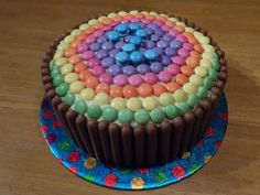 Smarties 2 year old cake