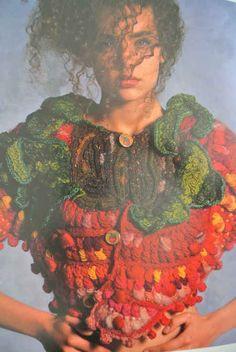 One of Janet Lipkin's Amazing Crochet garments/works of art!