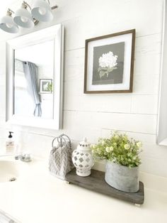 Weekend Walls Peel and Stick Paneling in Cape Code White - approximately 70 square feet. Starting at $11.05 per square foot, transform your space in only a few days! Peel and stick wood walls are a DIYers dream - simple cut to size as needed, peel, stick, repeat! #peelandstick #woodwalls #reclaimedwood #whitewoodwalls