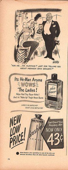 1950 Mennen Skin Bracer Advertisement Life April 24 1950   Flickr - Photo Sharing!