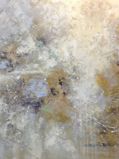 """An original acryllic painting, signed by a local artist. A fresh mix of inspiration, absolutely perfect in any home. Simply a splash of neutrals with a hint of color.  Dimensions: 50""""x 50"""" $475.00"""