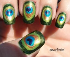 Saw a pack of Ulta nail polish that was peacock themed...good idea of what to do with it!