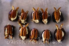 Honeyduke's Cockroach Clusters - Sweet Cheese Stuffed Dates - Vegan Harry Potter Recipes via http://MissKichenWitch.com