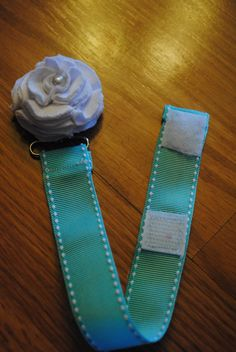 Pacifier clips. Love the flower