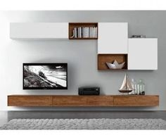 Ideas for living room tv wall decor ideas interiors Living Room White, New Living Room, Living Room Decor, Small Living Rooms, Tv Unit Decor, Tv Wall Decor, Bookshelves In Living Room, Living Room Tv Unit, Diy Furniture Tv Stand