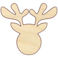 Reindeer - The Wooden Hare Wood Reindeer, Reindeer Head, Reindeer Craft, Wooden Christmas Crafts, Christmas Stencils, Christmas Templates, Christmas Applique, Christmas Sewing, Christmas Diy