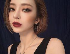 korean makeup – Hair and beauty tips, tricks and tutorials Asian Makeup Looks, Korean Makeup Look, Korean Beauty, Asian Beauty, Sweet Makeup, Cute Makeup, Beauty Makeup, Hair Makeup, Hair Beauty